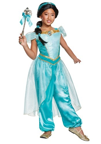Aladdin Live Action Deluxe Girls Jasmine Costume