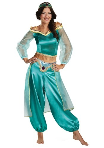 Aladdin Animated Womens Jasmine Prestige Costume
