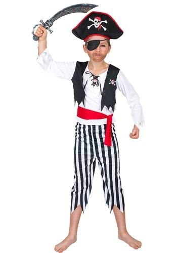 Boys Striped Buccaneer Pirate Costume
