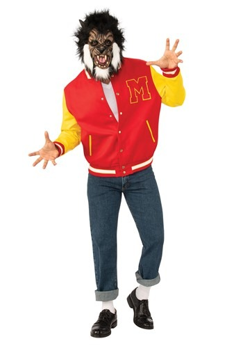 Click Here to buy Michael Jackson Thriller Werewolf Deluxe Adult Costume from HalloweenCostumes, CDN Funds