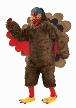 Adult Deluexe Plush Turkey Mascot Costume