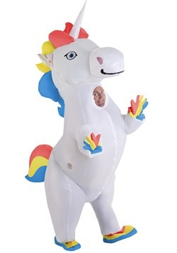 Adult Inflatable Prancing Unicorn Costume