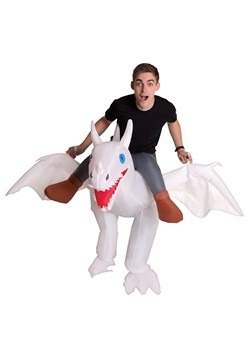 Adult Inflatable Unicorn Ride Me Carry On Costume Outfit Suit Halloween One Size