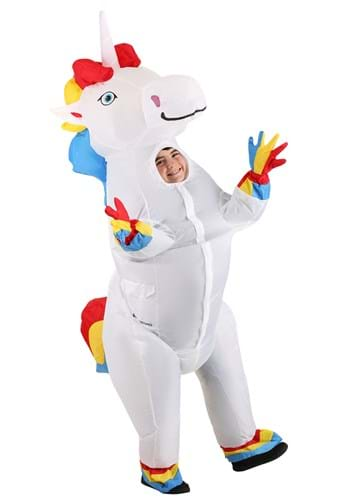 Child Inflatable Prancing Unicorn Costume Main UPD