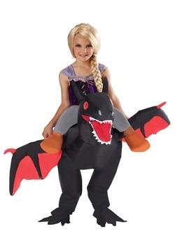 Kids Inflatable Black Ride on Dragon Costume