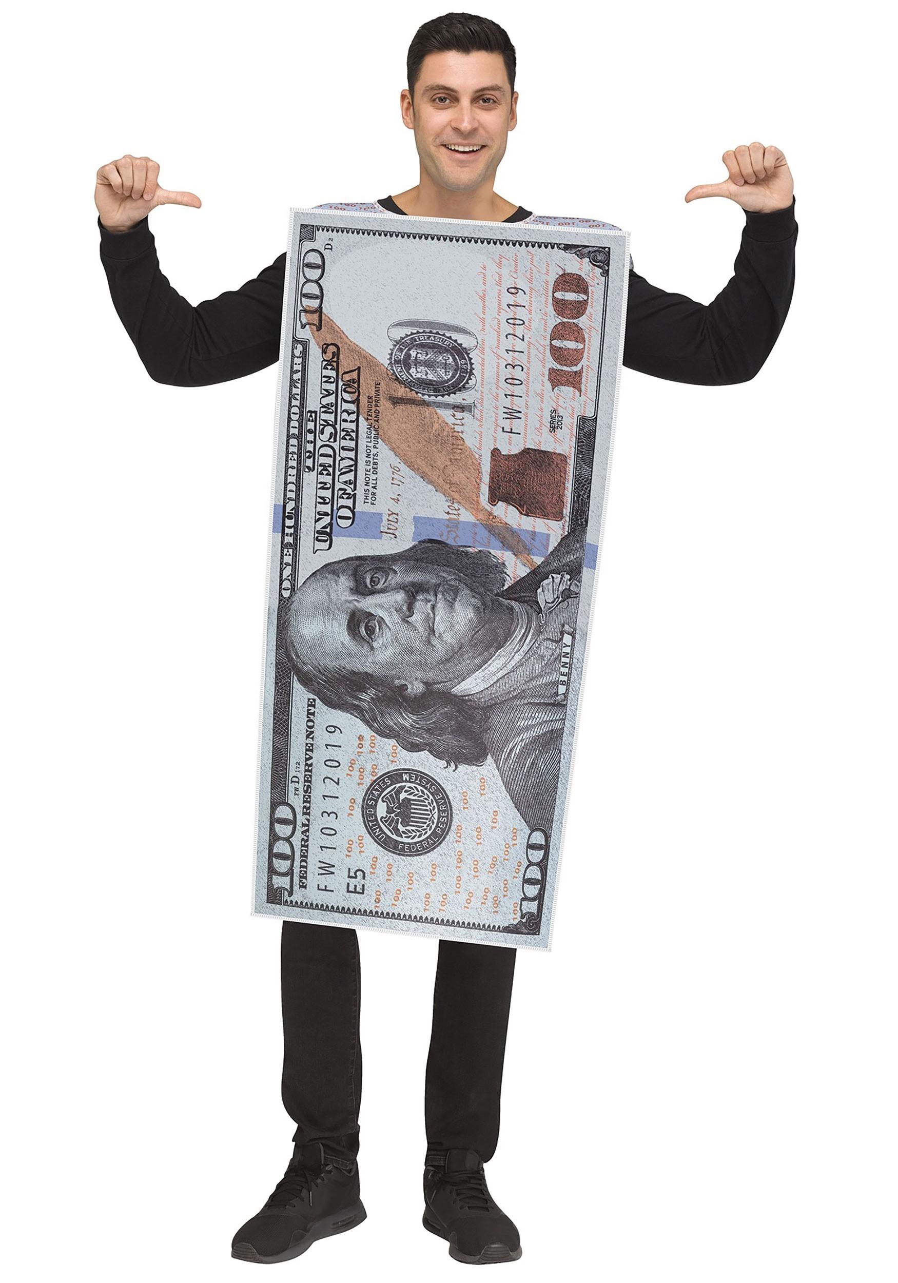 68a019bf63b Adult 100 Dollar Bill Costume