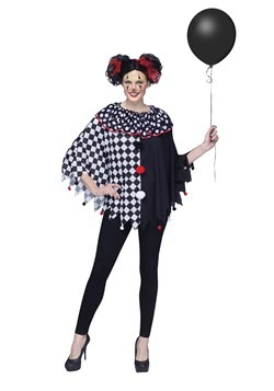 Women's Scary Clown Poncho