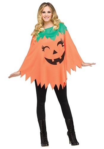 Pumpkin Poncho Costume for Women
