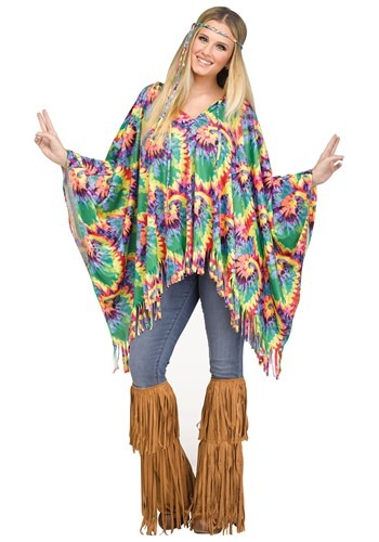 Women's Hippie Poncho Costume