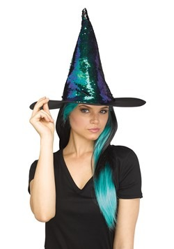 Flip Sequin Witch Hat Teal