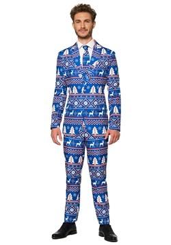 Suitmeister Christmas Blue Nordic Men's Suit
