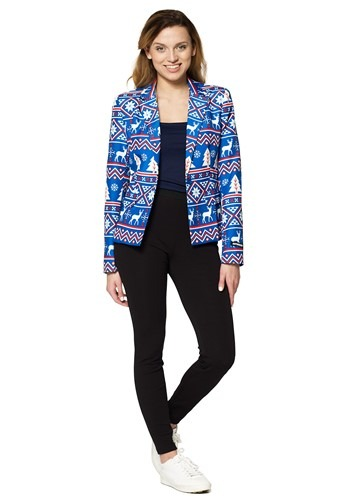 Suitmeister Christmas Blue Nordic Women's Blazer
