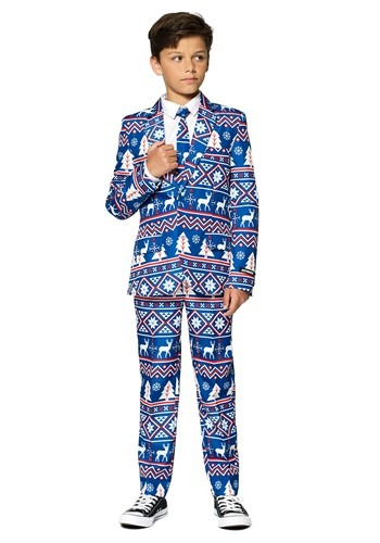 Christmas Blue Nordic Boys Suitmeister Suit
