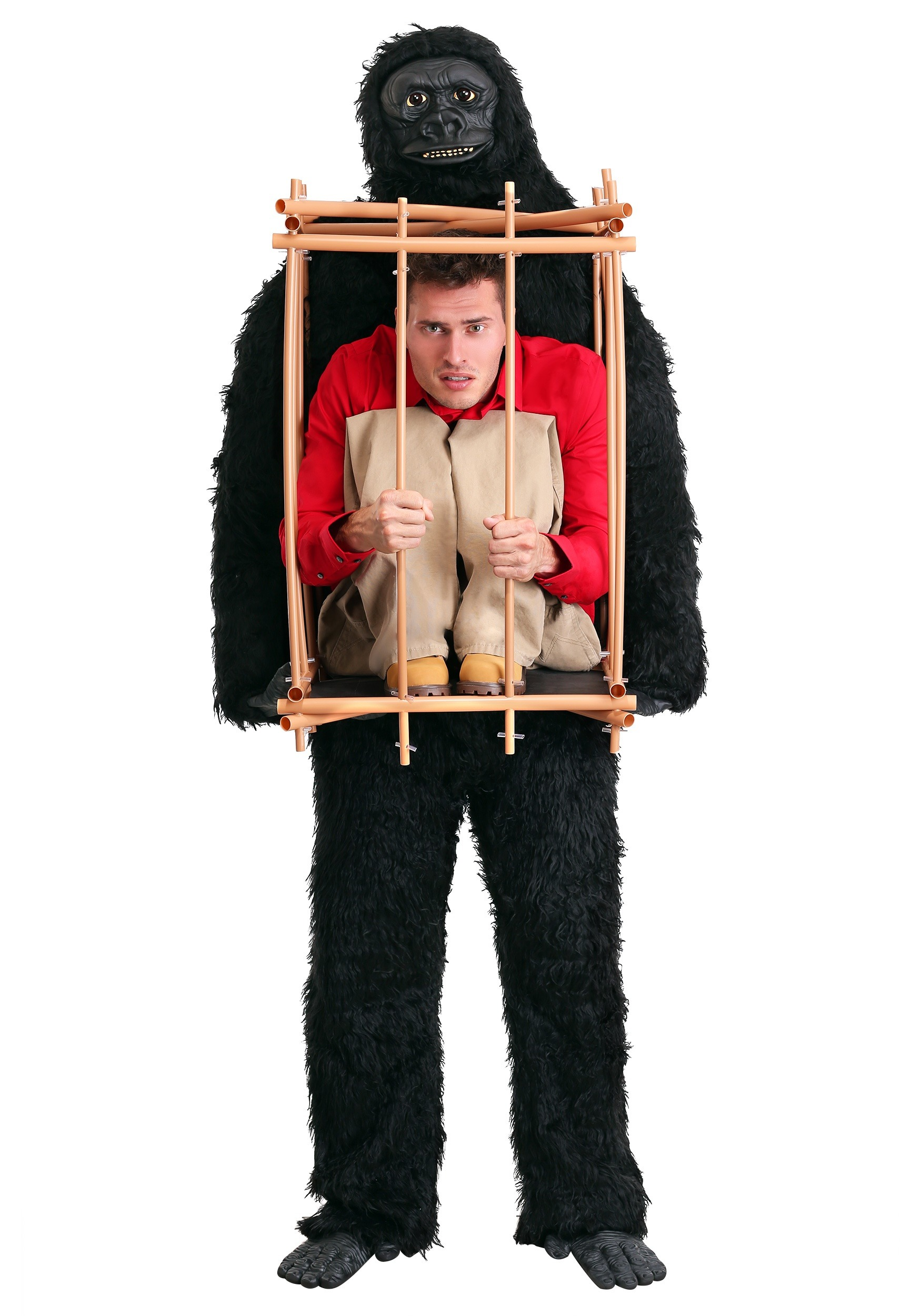 Uncategorized How To Make A Gorilla Costume man in a gorilla cage costume