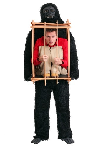 Click Here to buy Man in a Gorilla Cage Costume from HalloweenCostumes, CDN Funds