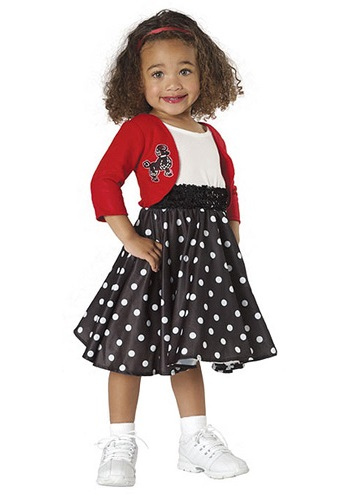 sc 1 st  Halloween Costumes & Toddler Girls 50u0027s Costume
