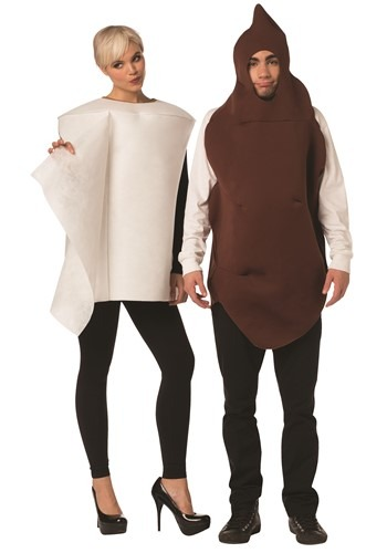 Couple's Poop & Toilet Paper Costume