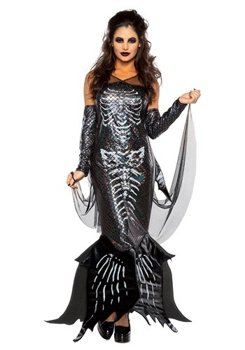 Women's Glamour Skeleton Mermaid Costume