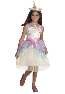 Gilr's Dashing Unicorn Dress Costume