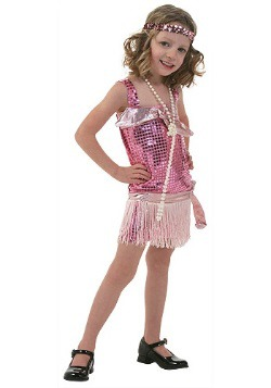Pink Toddler Flapper Costume