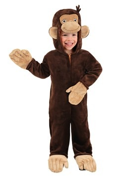 Deluxe Toddler Curious George Costume New