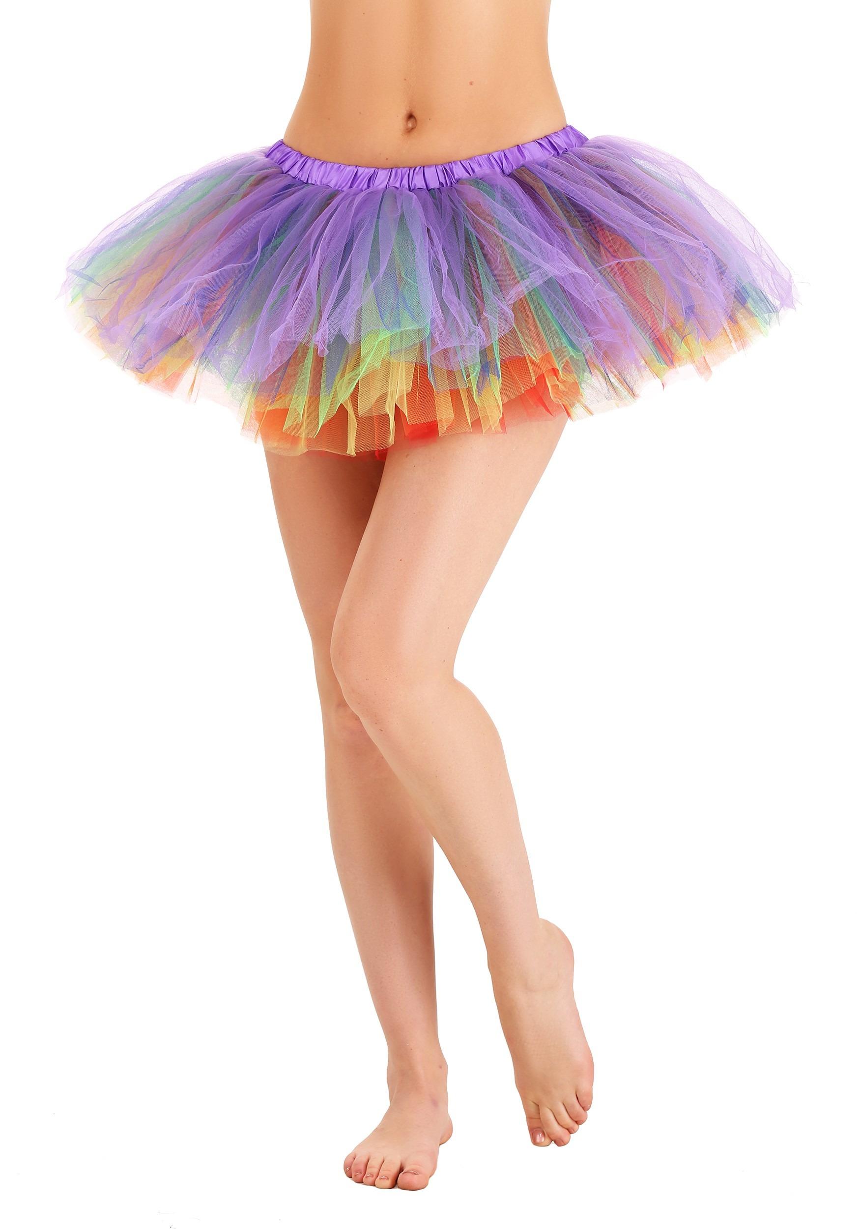 Adult Rainbow Tutu Dress