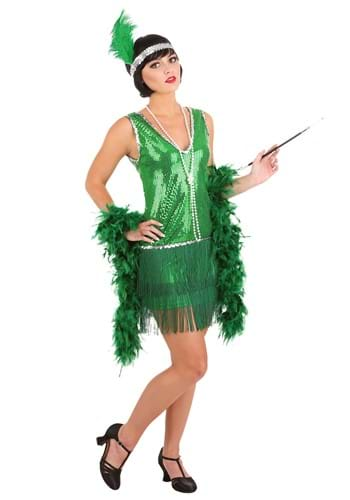 Womens Emerald Flapper Costume