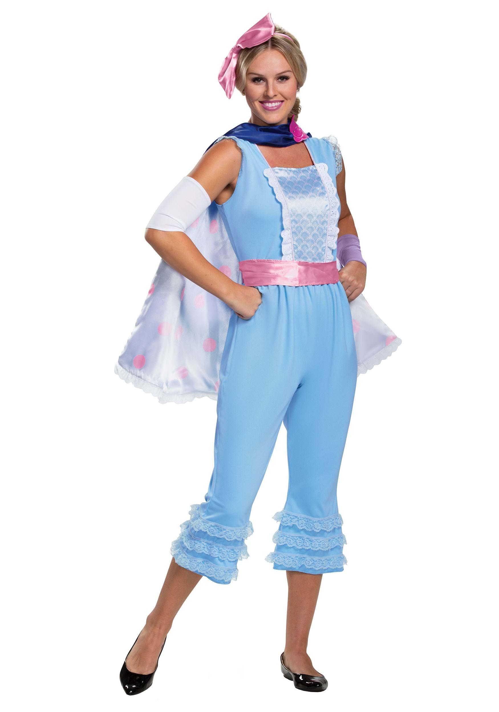 Toy Story 4 Halloween Costumes.Toy Story Women S Bo Peep Deluxe Costume