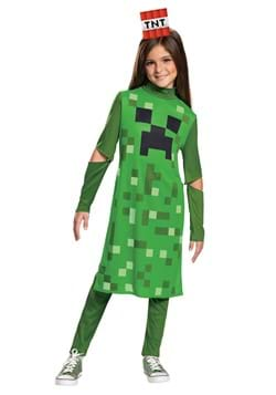 Minecraft Girls Creeper Classic Costume main1