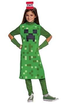 Minecraft Girls Creeper Classic Costume