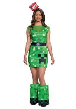 Minecraft Womens Creeper Costume DLC