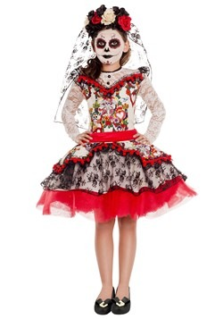 Girl's Sugar Skull Princess Costume