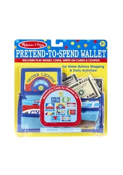 Melissa & Doug Pretend to Spend Play Wallet