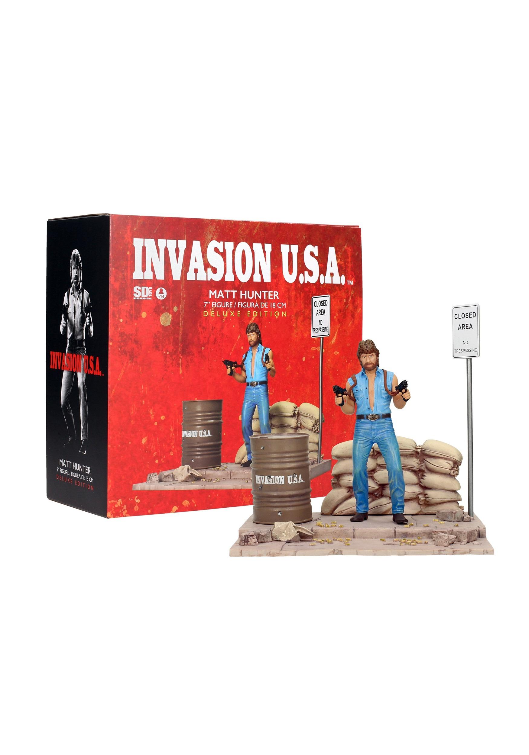 Chuck Norris invasión usa Matt Hunter Figura Con Diorama