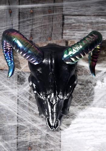 """11"""" Oil Slick Black Ram Skull Update 1"""