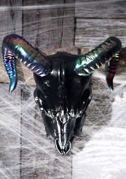 "11"" Oil Slick Black Ram Skull Update 1"