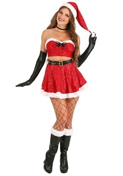 Women's Sexy Sequin Santa Costume Update