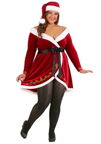 Plus Size Women's Sexy Mrs. Claus Costume New