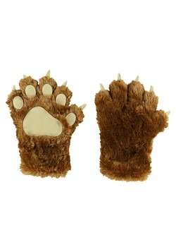 Kids Brown Bear Paw Mitt Glove