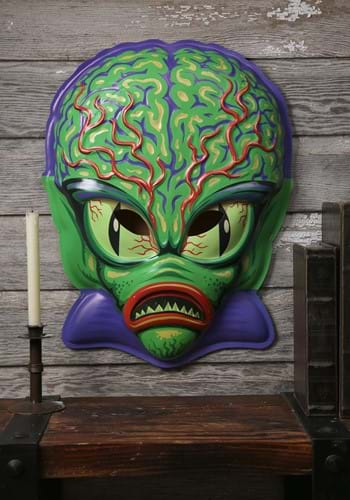"Space Invader Vacuform Mask 23"" Wall Hanger Decor"
