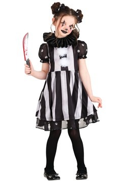 Girls Dark Circus Clown Costume1