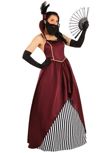 Women's Bearded Lady Circus Costume1