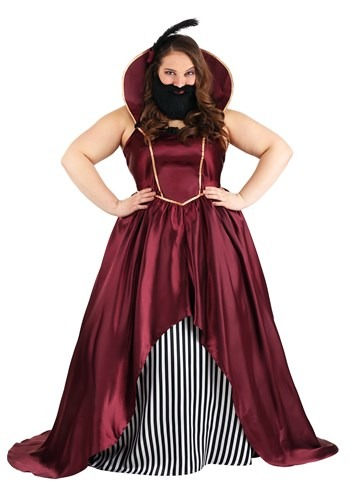 Plus Size Womens Bearded Lady Circus Costume