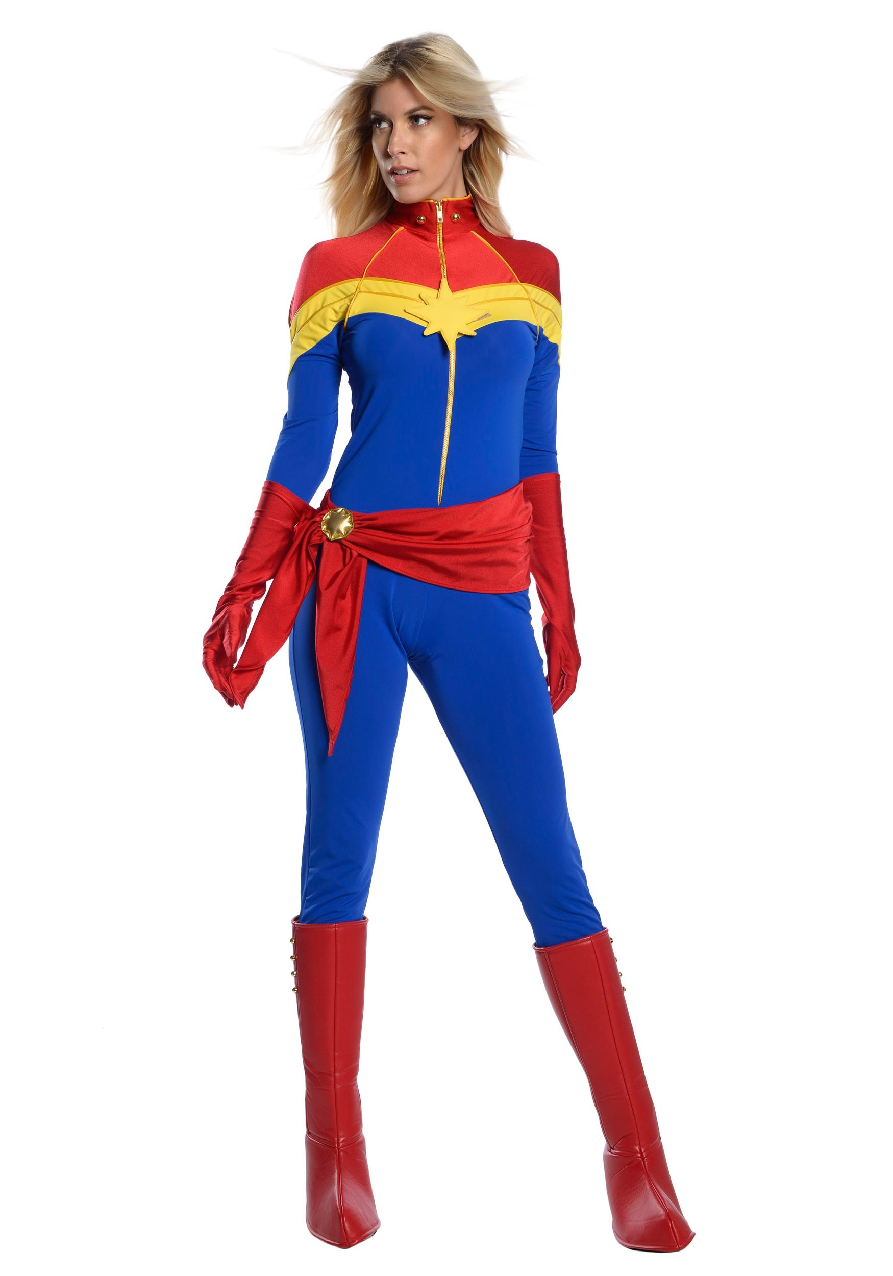 Captain Marvel Women S Premium Comic Book Costume Jedimanda started cosplaying in college, where she studied fine arts and costume design. women s classic captain marvel cosplay costume