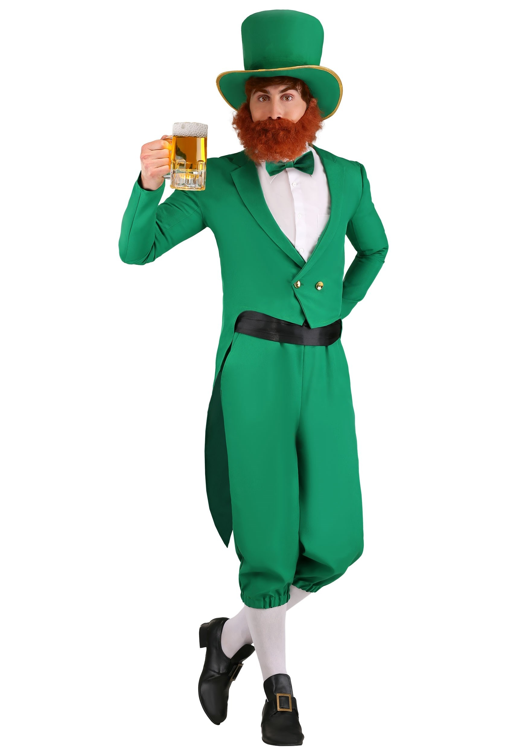 Green Furry Hat Funny Irish St Saint Patrick/'s Day Party Adult Costume Hat