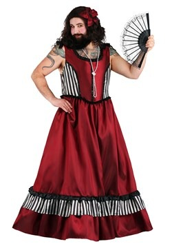 Men's Bearded Woman Costume