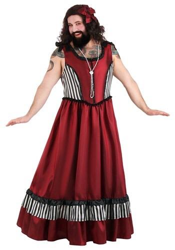 Mens Plus Size Bearded Woman Costume