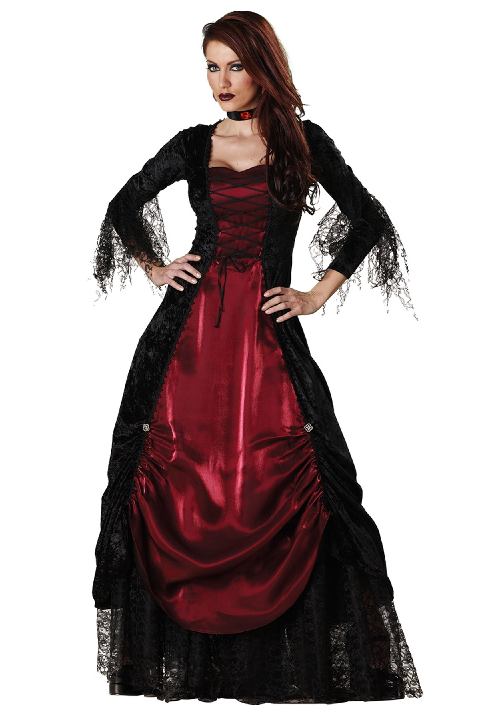 deluxe vampira costume. Black Bedroom Furniture Sets. Home Design Ideas