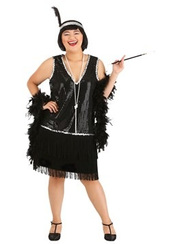 Plus Size Women's Onyx Flapper Costume