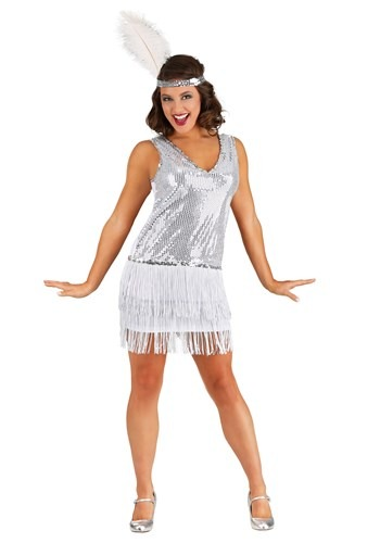Womens Crystal Flapper Costume